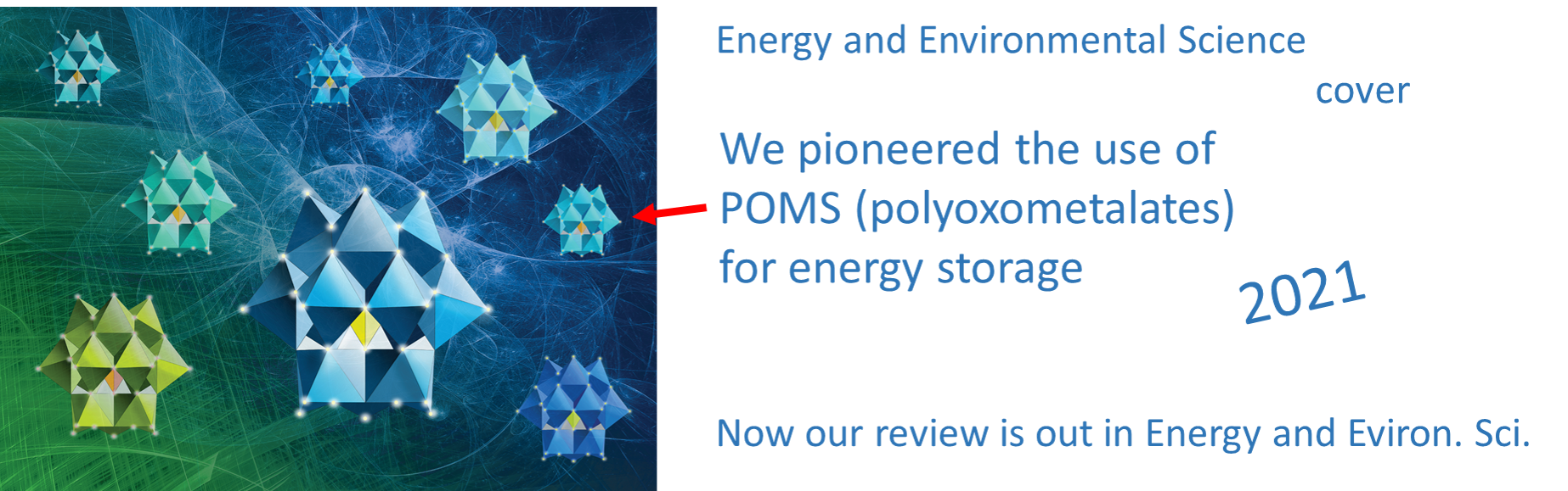 POMs for energy applications. Review and Cover in Energy and Environ. Sci. 2021
